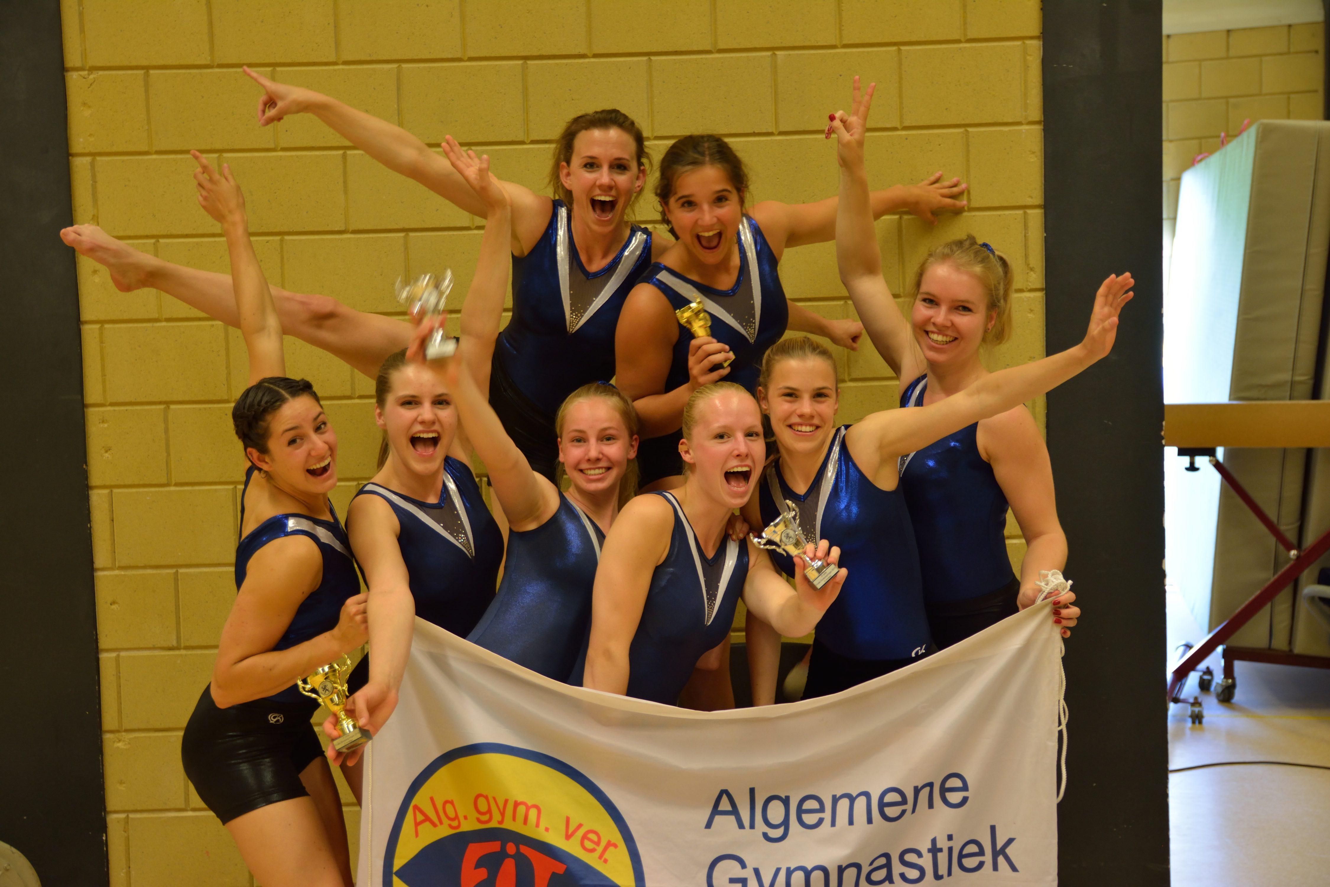 Fit Lisse meervoudig Nederlands kampioen bij Groepsspringwedstrijden in Bergen op Zoom